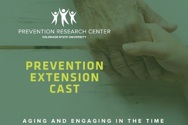 Prevention Extension Cast overlay with image of older hands holding