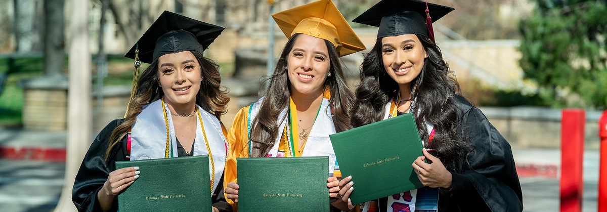 The Colorado State University College of Health and Human Sciences celebrates its graduates at the Spring Commencement Walk on The Oval. April 6, 2021