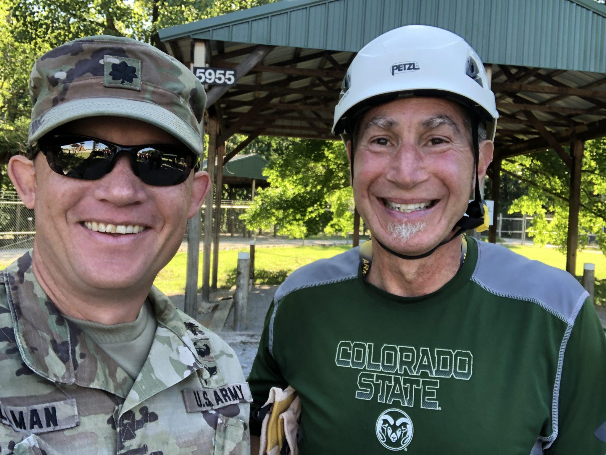 Barry Braun with Lt. Col. Matthew Tillman