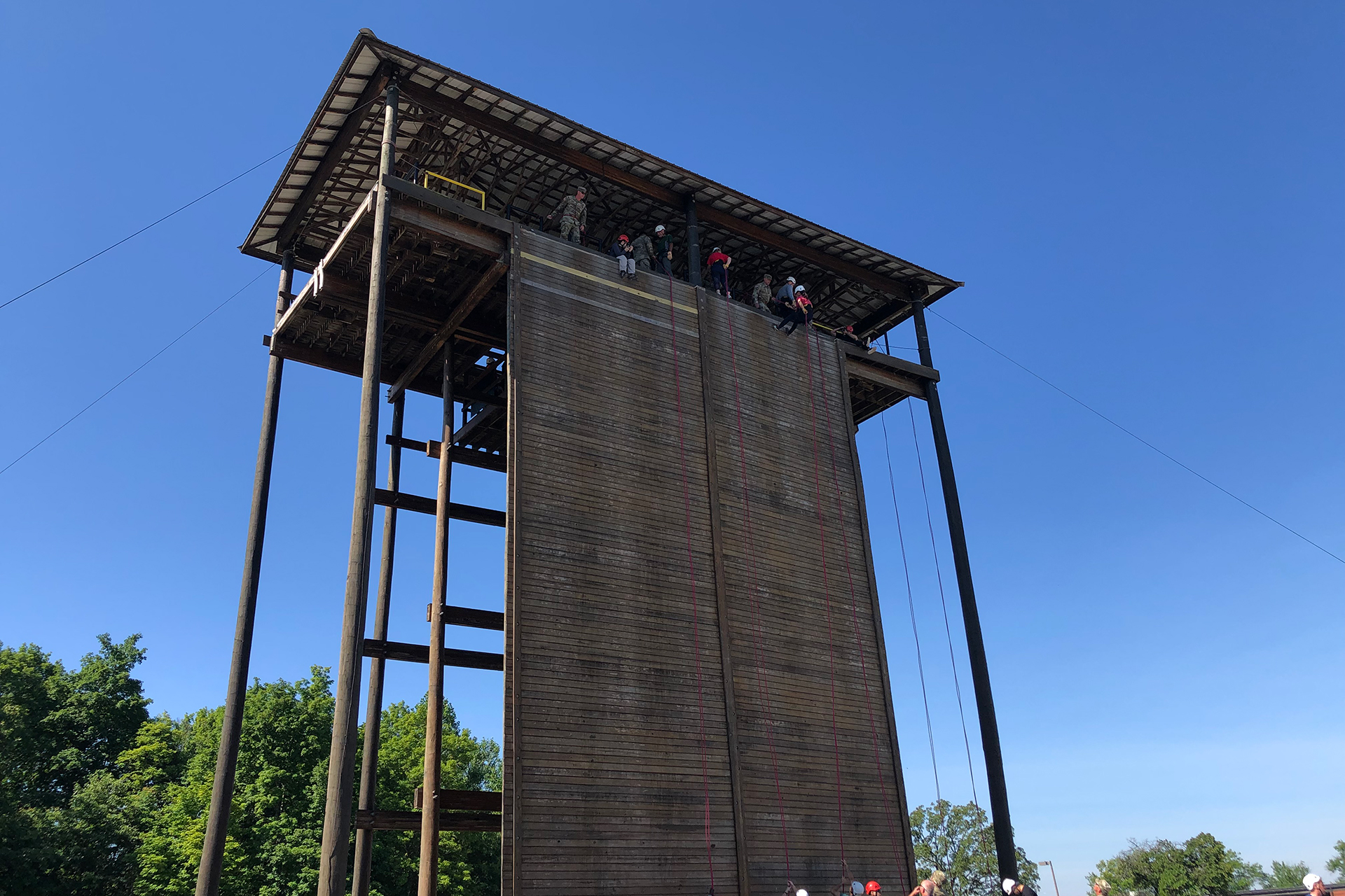 60-foot rappel tower at Fort Knox