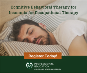 A flyer announcing the course with a man sleeping with his head on a pillow