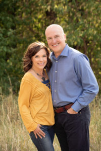 Stacy and Kevin Unger outdoor portrait.