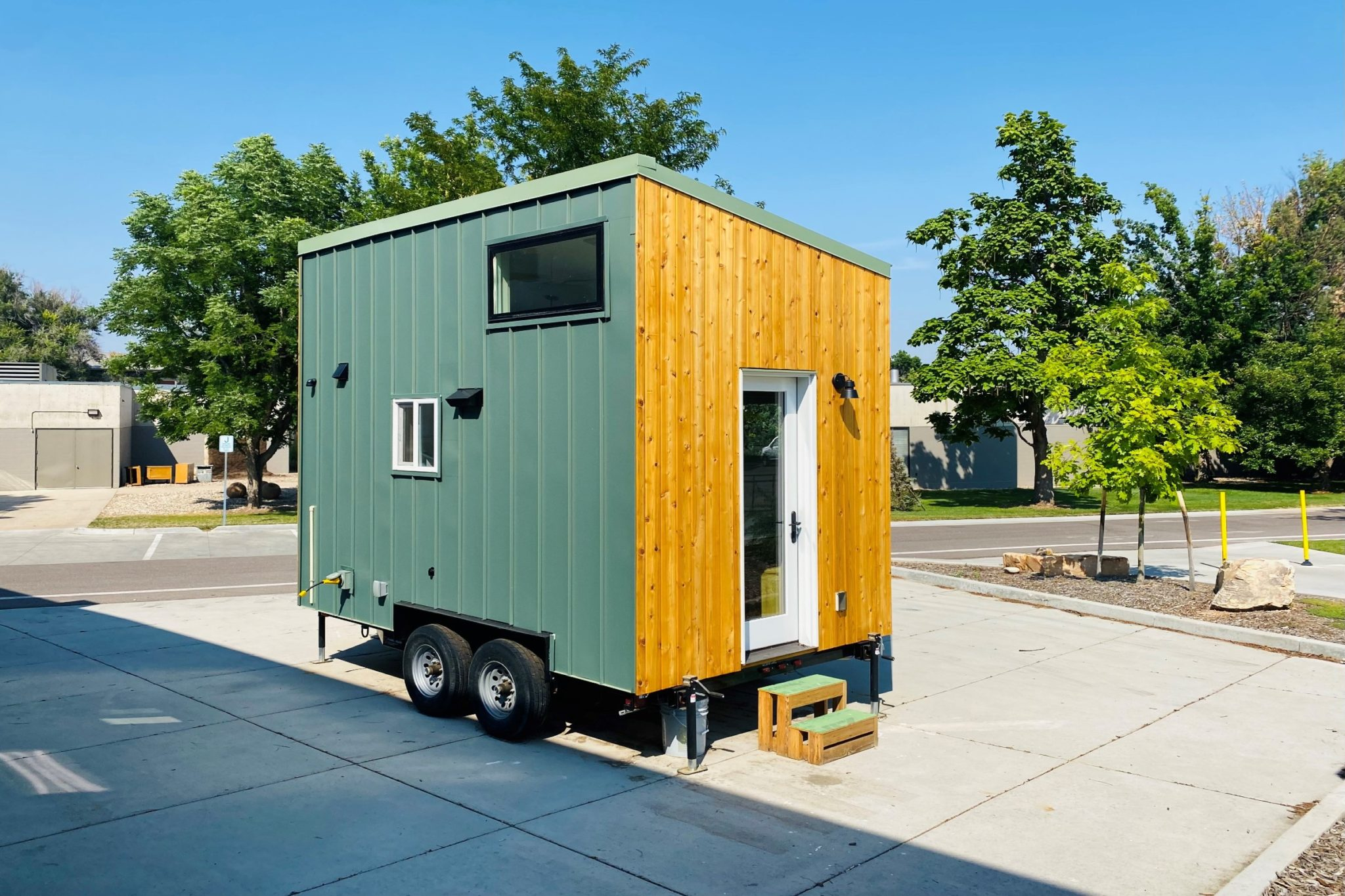 Exterior image of the CSU Tiny House